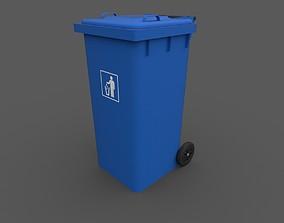 Trash Bin 3D rigged