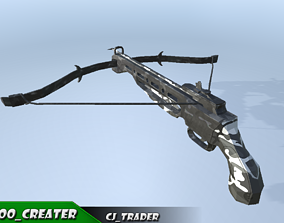 Sci-Fi Crossbow Low-poly 3D model realtime