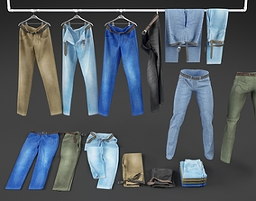 Jeans collection 3D model