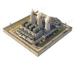 3D model plant Coal Power Station