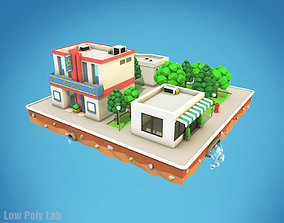 Cartoon City Block Cinema 3D asset