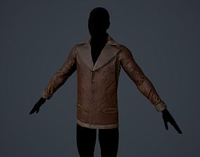3D asset VR / AR ready Jacket Man Leather