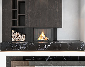 3D Fireplace and Firewood set 05