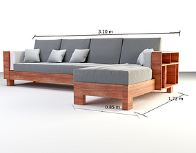 3D model L shaped Couch