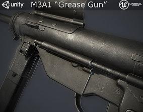 3D model low-poly M3A1 Grease Gun
