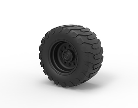 Diecast Offroad wheel 23 3D printable model