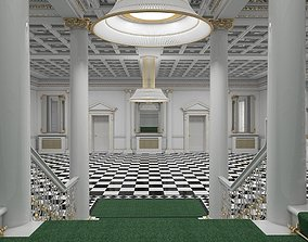 Grand Hall Entrance Staircase model
