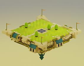 VR / AR ready Game scene arena castle model