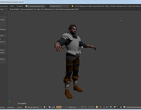 3D model Medieval Character knight