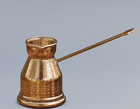 Traditional Turkish coffee pot 3D model