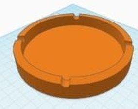 Simple ashtray 3D printable model