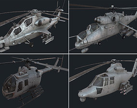 3D asset Holicopter pack