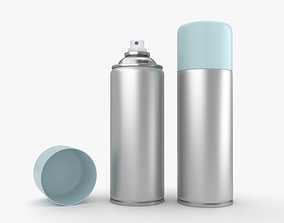 various Spray Can 3D model