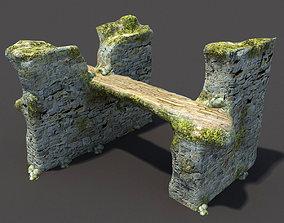 English Castle Ruin 3D asset