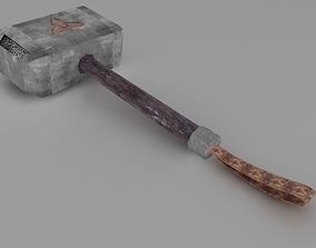 hard 3D model hammer