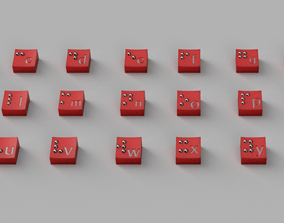 Keyboard brail switch 3D printable model