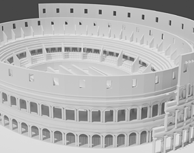 3D model Colosseum rome theater