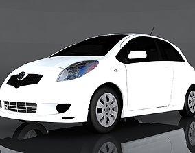 Toyota Yaris S 3D model game-ready