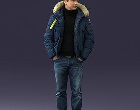 Man in a winter jacket pilot 0084 3D