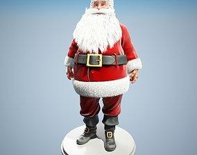 rigged Santa Claus 3D model Rigged clothing