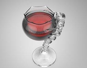 3D print model 3D asset Wine Glass