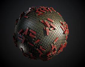 Metal Shotgun Shells Seamless PBR Texture 3D