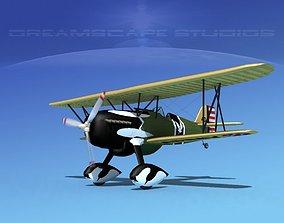3D model Curtiss P-6E Hawk V01