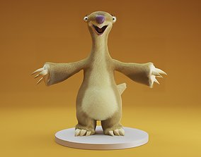 sid ice age 3D asset