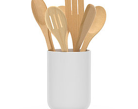 Kitchen wooden tools 3D