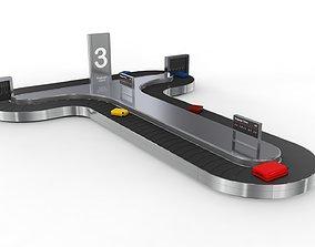 Airport Baggage Carousel Conveyor 1 3D