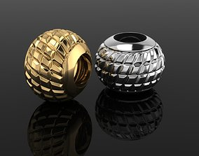 Jewelry bead charm silver and gold 3D printable model