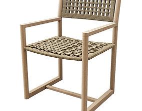 3D Bondi teak armchair