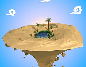 3D asset Floating Island
