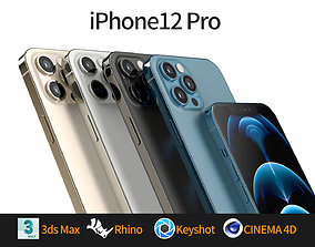 Apple iphone 12 Pro mobile phone 3D model 3D model 3D 1