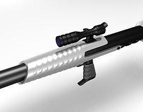 3D Sci Fi Rocket Launcher