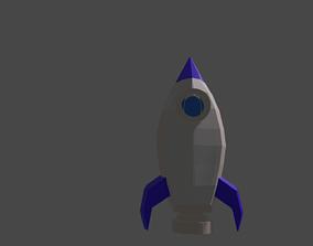 Rocket spaceship 3D asset
