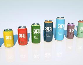 Can beverage full pack 3D model diet