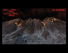 Volcano 3D model realtime