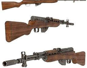Soviet semi-automatic carbine 3D