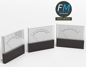 3D Panel mount analog voltmeters