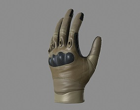 Military Gloves 3D asset low-poly