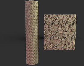 3D printable model texture rollin pin 2