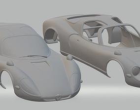 Alfa Romeo Stradale 1967 Printable Body Car shell