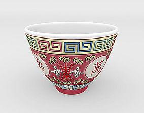 3D model Chinese Porcelain Wan Shou Tea Cup