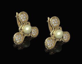 3D printable model Pearl Spinner Earrings