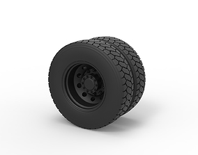Diecast Rear wheel from truck 3D printable model