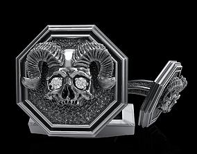 skull cufflinks 3D print model 3dprint skulpt