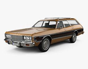 Dodge Coronet station wagon 1974 3D model
