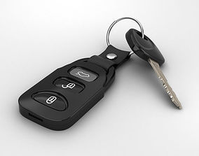 3D model Car Key keys