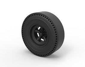 Diecast Rear wheel of old school dragster 3D print model